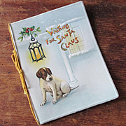 Raphael Booklet Card Dog Waiting For Santa