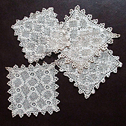 Antique Cream Irish Lace Coasters