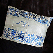 Antique Chinese Silk Embroidered Sleeve Bands Pillow Cover