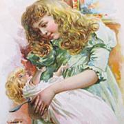 Girl Feeding Doll Ivers & Pond Piano