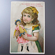 Victorian Girl With Doll Niagara Starch 1885