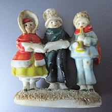 Antique Bisque German Miniature Carolers