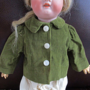 Nice Olive Green Courdory Jacket Smaller Doll