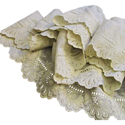 Antique Ayrshire Lace Scalloped Flounce Doll Clothes