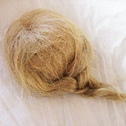 Blonde Mohair Doll Wig