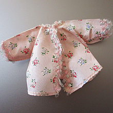 Cute Vintage Silky Jacket Roses Ginny Ginger By Cosmopolitan