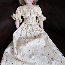 Print Gown China Doll Civil War Era Calico