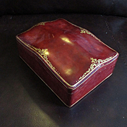 Large Humpback  Italian Leather Serpentine Jewelry Document Box