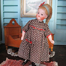 Antique Ruffled Calico Dress Small Mignonette