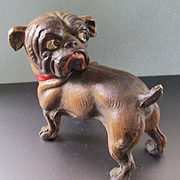 Rare Early 1900's Google Eyed Guard Pug