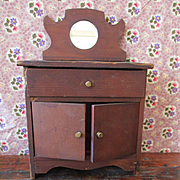 1905 Salesman Sample Bureau Mirror For Small Doll