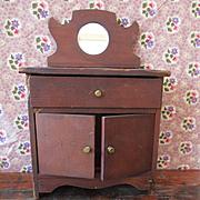 1905 Salesman Sample Bureau Mirror For Small Doll