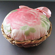 Antique Sweet Grass Water Silk Rose Cushion With Pad
