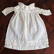 Woven Checked  & Window Pane Smaller Gown For China, Plate Doll