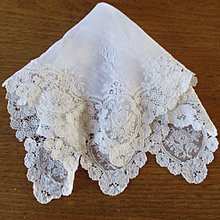 Gorgeous Brussels Princess Lace Wedding Hanky