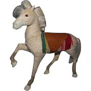Folk Art Horse, Glass Eyes, Paper mache