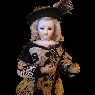 """17"""" Wood Body French Fashion Doll"""
