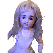 Silvery Blond Mohair Factory Wig, as found