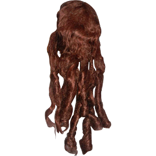 Auburn  Mohair Wig with Long Curls