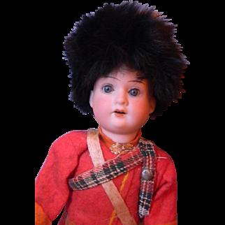 """Bisque Head Scottish Lad 11"""", All Original"""