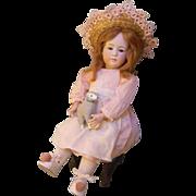 Pretty Gebruder Heubach 6969 Child, Cabinet Size