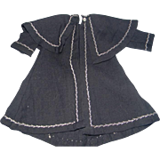 Navy Blue Woolen Coat w/Feather Stitching - Red Tag Sale Item