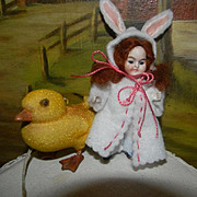 All Bisque Bunny Girl w/Duckling