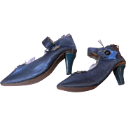 SALE!  Boudoir Doll Shoes w/heels, Turquoise rare color