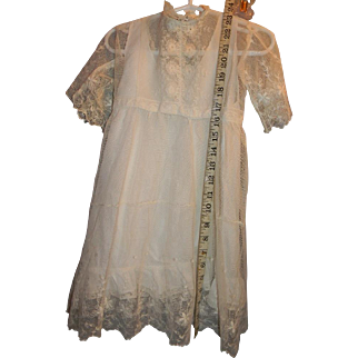 Lace Dress for Large Doll circa 1900's