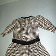 Vintage Wool Dress for Victorian Doll