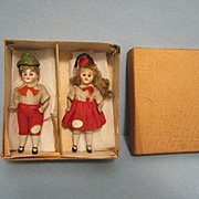 "All Original 3 1/2"" Bisque Doll with Box"