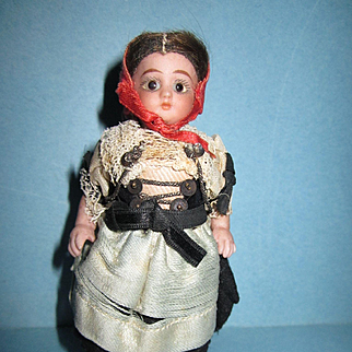 "Antique Simon & Halbig 4"" All Bisque Doll"