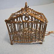Antique Dollhouse Miniature Birdcage