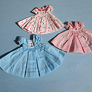 "Three Dresses for 10"" dolls Vogue, Revlon, Alexander"