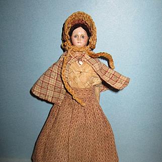 Antique Papier Mache Milliner Model Doll