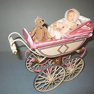 Marklin Carriage and Kathe Kruse Doll