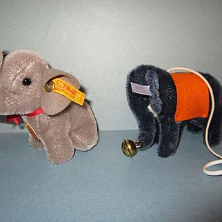 Two Steiff Elephants