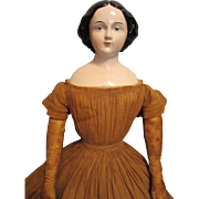 "Early 27"" Jenny Lind China Doll"
