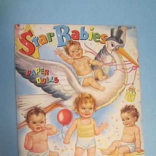 Vintage Uncut 1945 Star Babies Paper Dolls