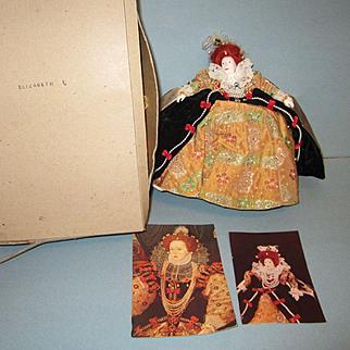 Early 1976 Peggy Nesbit Doll Elizabeth I with Box