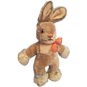 """Steiff 10"""" Standing Mohair Rabbit with Button"""
