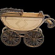Antique German Marklin Doll Carriage