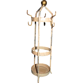 Antique Doll House Miniature German Metal Coat Rack