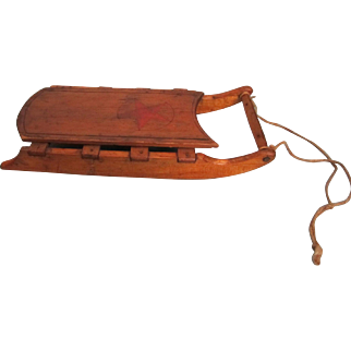 Antique Miniature Wooden Folk Art Sled