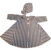 """Vintage Madame Alexander Stripped Tagged Coat for 15"""" Doll"""