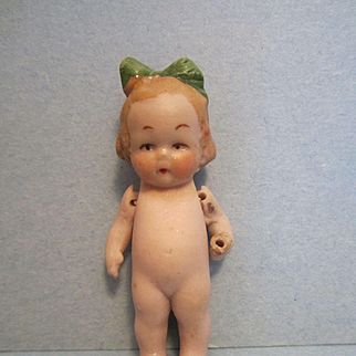 Antique Doll House Miniature Hertwig Doll