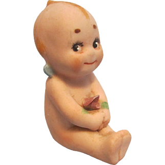 Antique All Bisque Kewpie Doll
