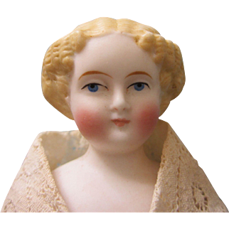 """Antique German 8"""" Doll House Doll"""
