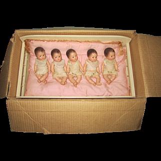All Original Composition Dionne Quintuplet Dolls
