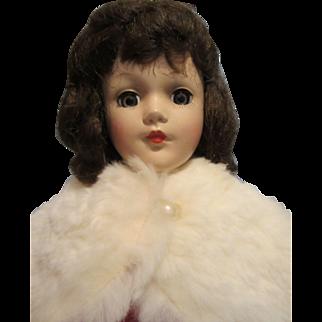 "Vintage 14"" Marked Hard Plastic Mary Hoyer Doll"